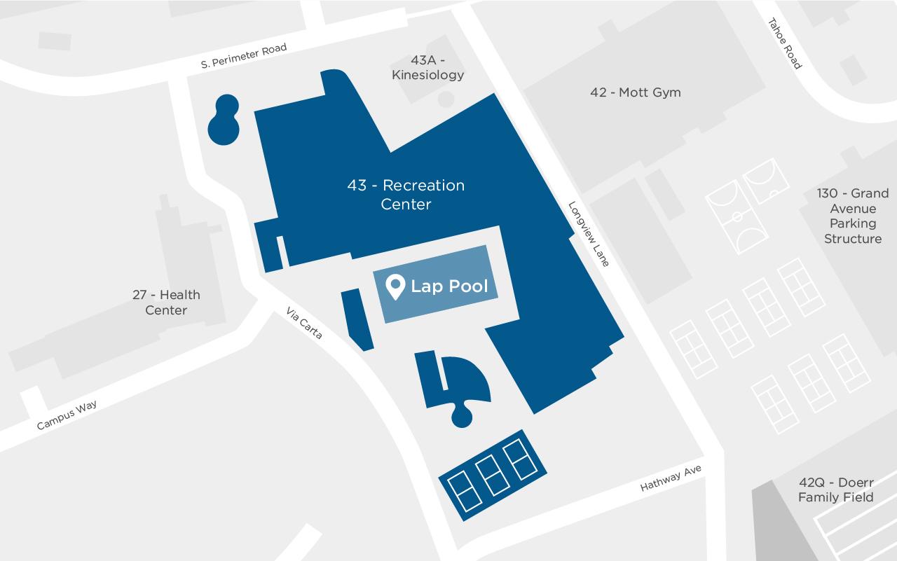 ASI Recreation Center Lap Pool map