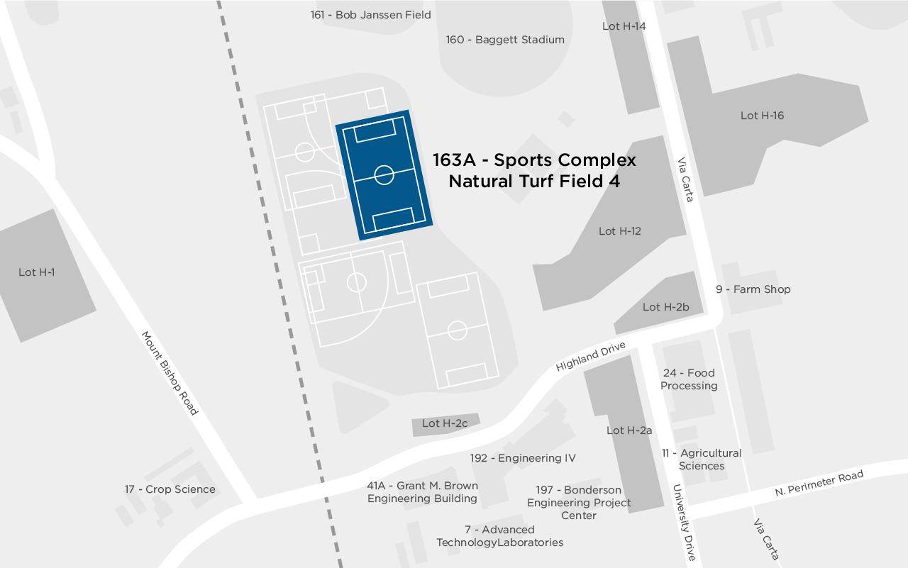 Sports Complex Natural Grass Turf Field 4 map