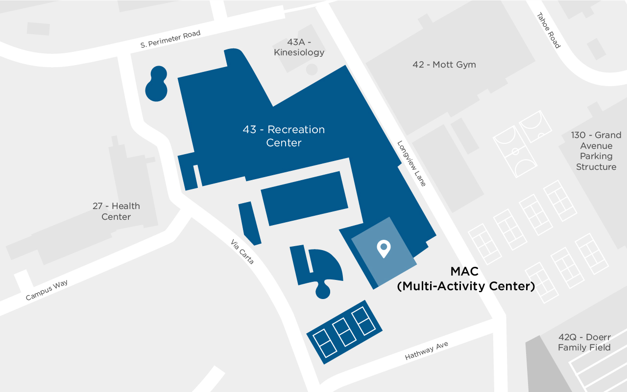 Map of the MAC at Cal Poly- managed by ASI