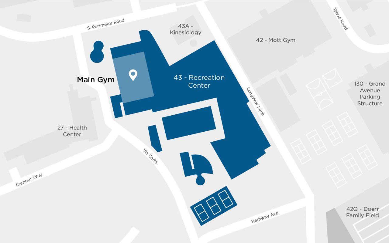 Cal Poly Recreation Center- Main Gym Map