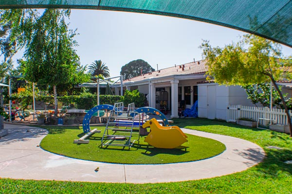outdoor play area at the asi children's center