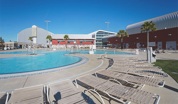 pool deck at the cal poly recreation center leisure pool