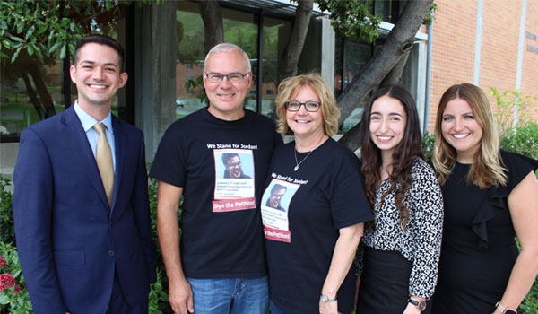 ASI President Mark Borges meeting with the family of Jordan