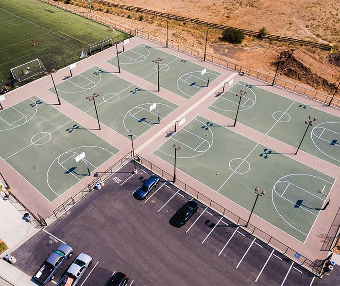 Basketball Courts at Cal Poly managed by ASI