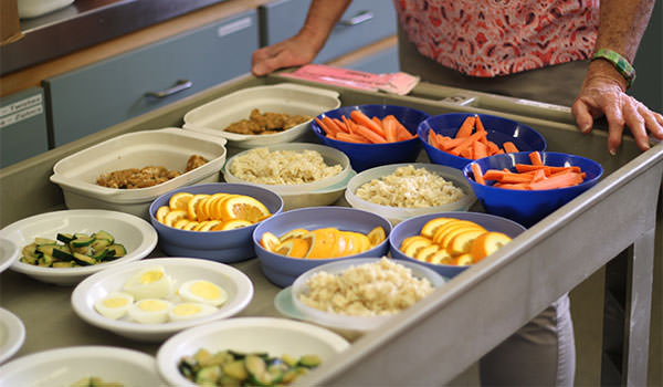 snack cart at the asi cal poly children's center