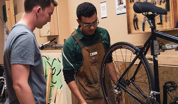 bike maintenance studio at the asi craft center