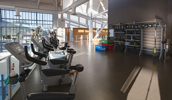 exercise equipment within the cal poly recreation center