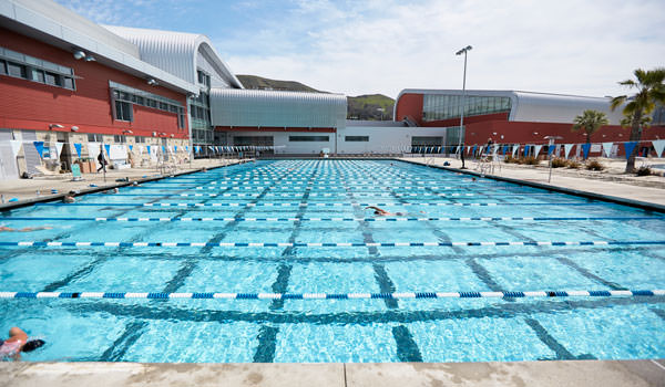 facility photo of the lap pool at the cal poly recreation center