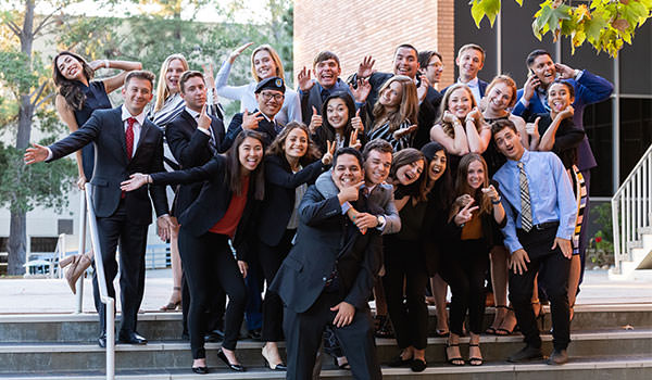 silly group photo of the ASI Student Government Board of Directors