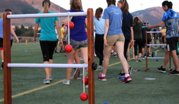 Students playing a game at the ASI Cal Poly Sports Complex