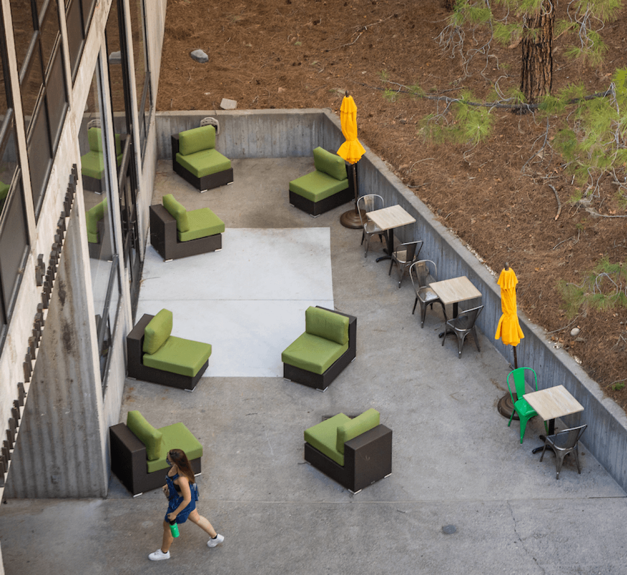 MultiCultural Center outdoor patio seating space